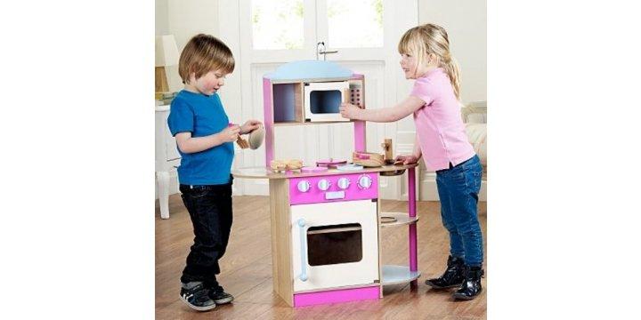 toy wooden kitchen half price asda direct was 70 now 35. Black Bedroom Furniture Sets. Home Design Ideas