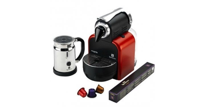 Nespresso Magimix M100 Manual Coffee Machine In Glam Red 163
