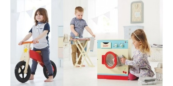NEW Selection Of Wooden Toys @ Asda George