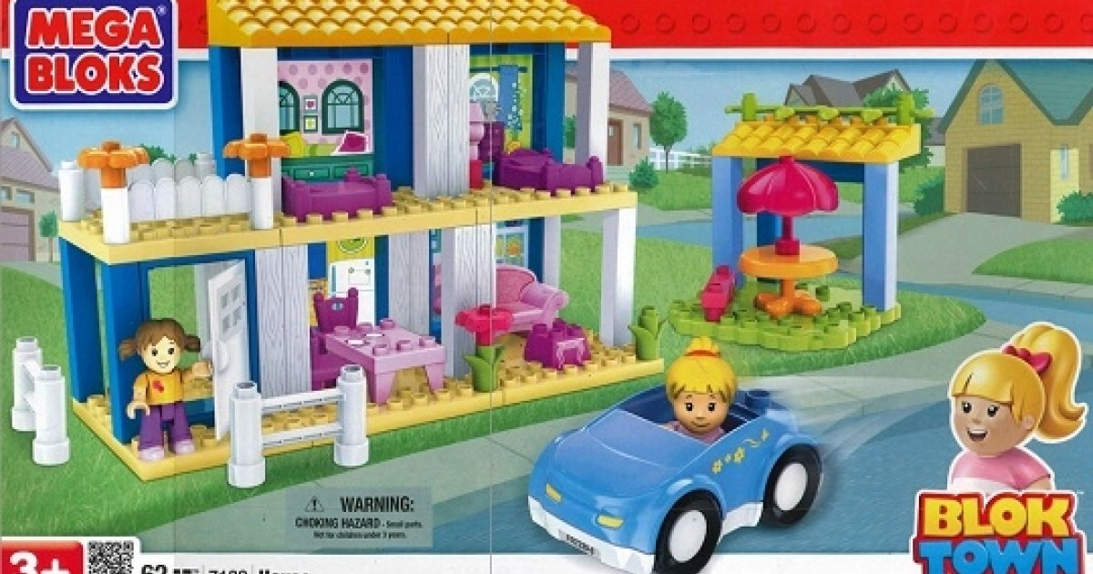 Mega Bloks 62 Piece Blok Town House Play Set For 19 99 The Works