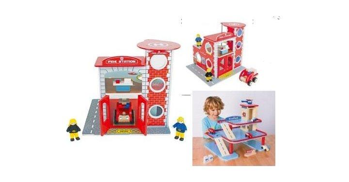 Chad Valley Wooden Fire Station And Garage Playset £12.99 @ Argos