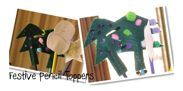 Workshop Wednesday: Christmas Pencil Topper Crafts