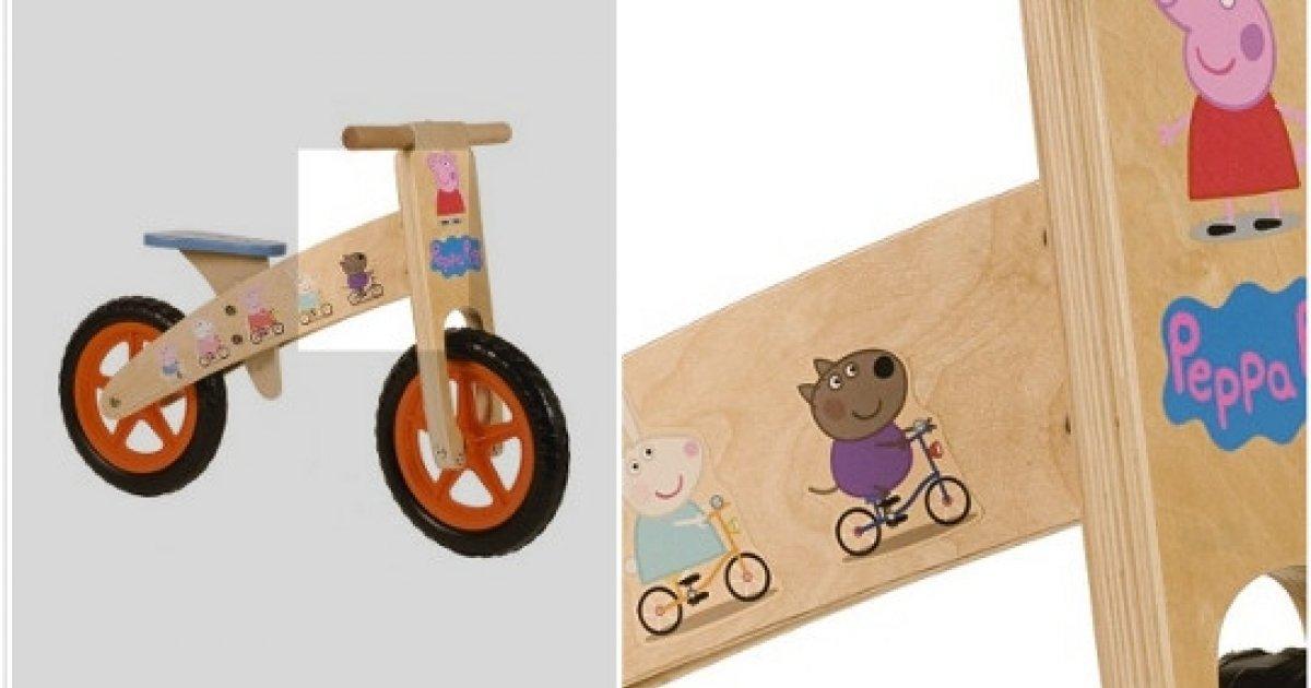 Peppa Pig Wooden Balance Bike 35 Woolworths Co Uk