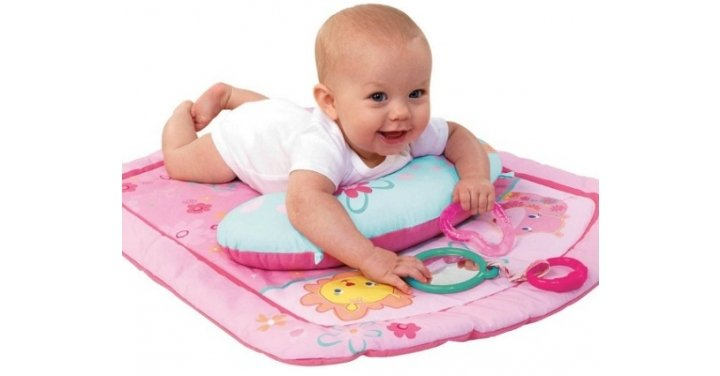 bright starts little blooms prop baby play mat. Black Bedroom Furniture Sets. Home Design Ideas