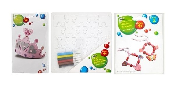 Arts & Crafts Rainy Day Activities for the Kid's From £1 a Set @ Wilko