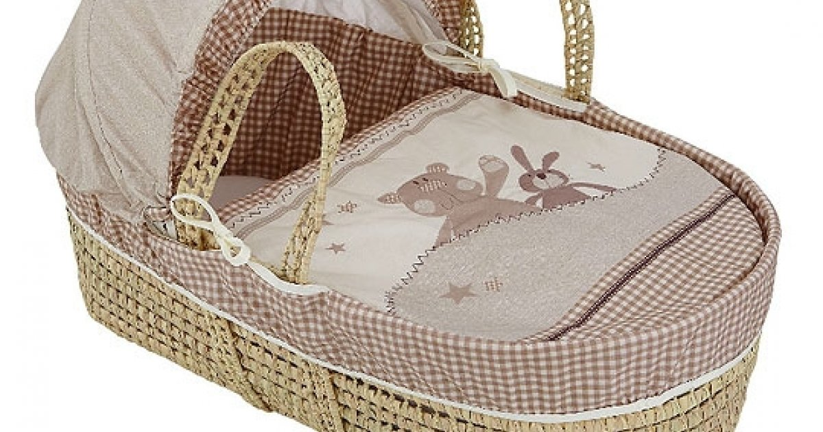 Ginger And Crumb Moses Basket Inc Mattress GBP18 Woolworths