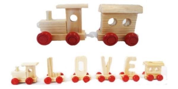 Personalised Wooden Alphabet Name Train Letters 99p Delivered @ eBay Seller: gets-u-goin