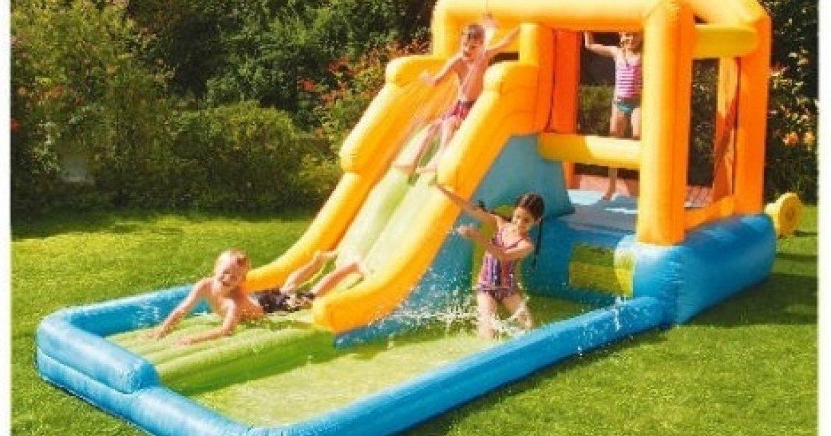 Giant airflow bouncy castle pool 126 tesco direct for Garden pool tesco