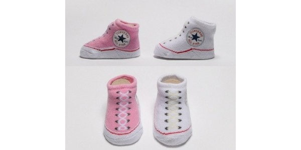 Converse Baby Booties £3.99 for 2 Pairs @ Footasylum