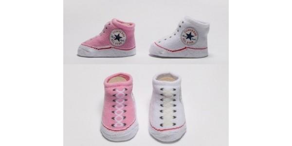 Converse Baby Booties £3.99 for 2 Pairs @ Footasylum