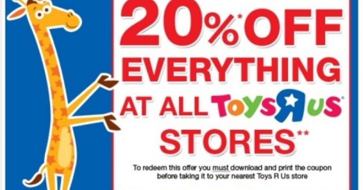 Toys R Us 20 Off : Toys r us coupon off instore