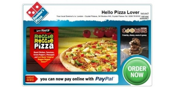 Dominos Coupon: £10 Off