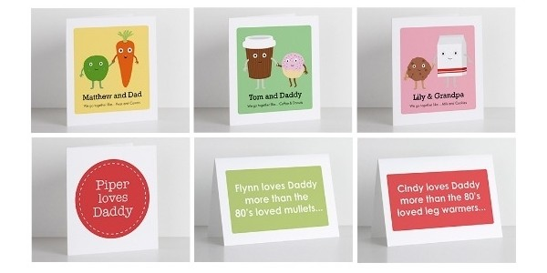 FREE Personalised Printable Father's Day Cards @ TinyMe