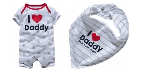 Baby 'Daddy' Slogan Romper & Bib Set was £9.99, now £4.99 @ Argos