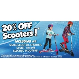 20% Off Scooters @ Smyths Toys