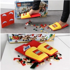Look! It's LEGO Slippers!