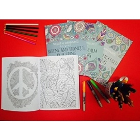 Adult Colouring Book Set £8 Amazon