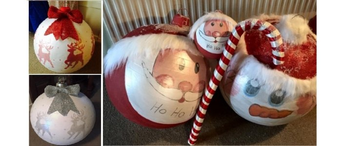How To Make Giant Christmas Baubles