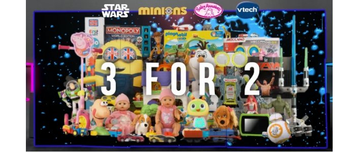 3 for 2 on ALL Toys @ Argos *NOW LIVE!*