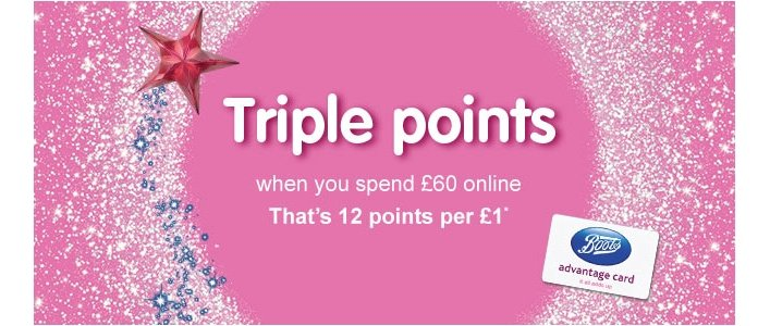 Triple Points When You Spend £60 @ Boots