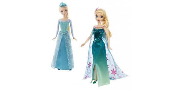 Disney Frozen Elsa Sparkle Dolls / Elsa Frozen Fever Doll £6.56 @ Amazon