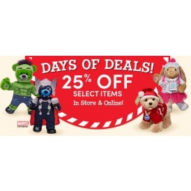 25% Off Selected Items @ Build-A-Bear