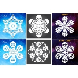FREE Frozen & Star Wars Snowflake Patterns