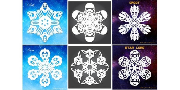 FREE Frozen, Star Wars & Guardians Of The Galaxy Snowflake Patterns