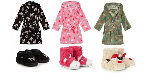 Half Price Dressing Gowns & Slippers TODAY ONLY @ Debenhams