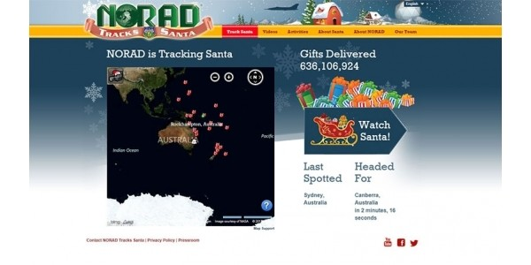 Tracking Santa Site NOW OPEN @ NORAD