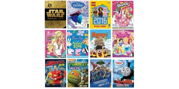 Selected 2016 Annuals £2 @ Amazon