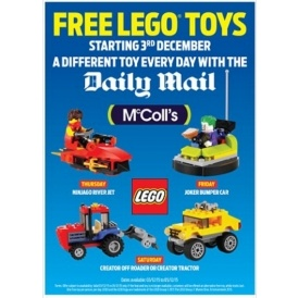Free Lego With Daily Mail @ McColl's