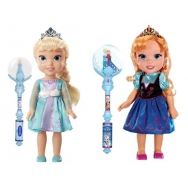 Frozen Toddler Doll & Wand Sets £20