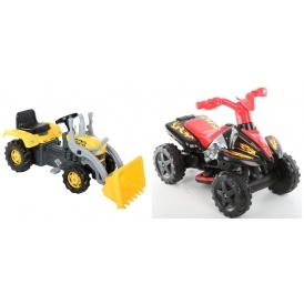 Electric Quad & Pedal Tractor £35 @ Halfords