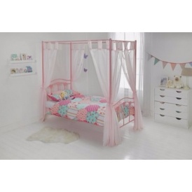 Single Hearts Four Poster Bed Frame £94.39