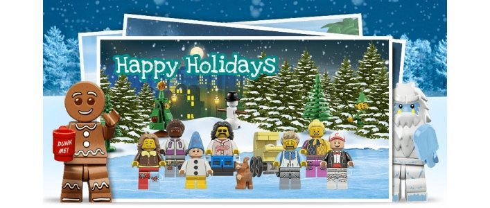 FREE Create Your Own Lego Christmas Card