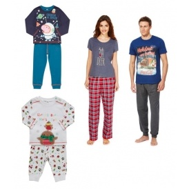 Christmas Pyjamas From £3 @ F&F