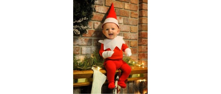 Dad Turns Baby Into Elf On The Shelf