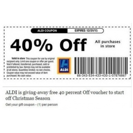 Aldi Warn Of Hoax Voucher Scam