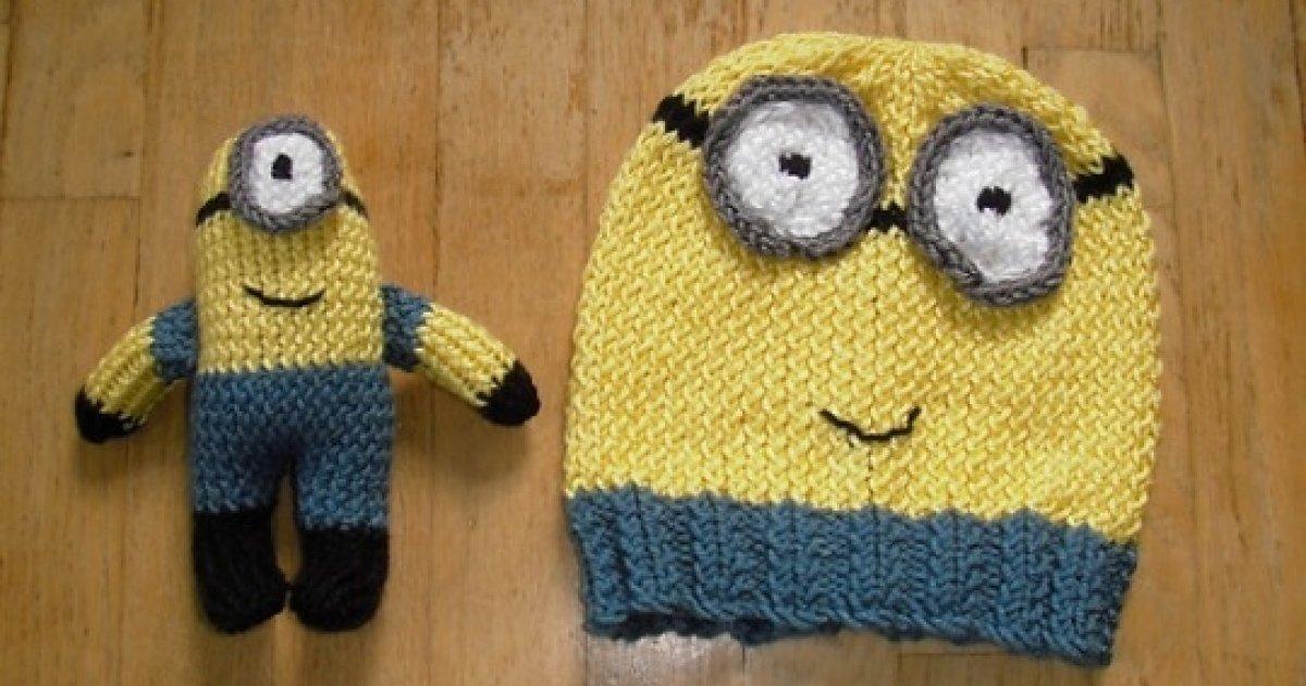 FREE Minions Hat   Toy Knitting Patterns   Ravelry 6a00c782c5d