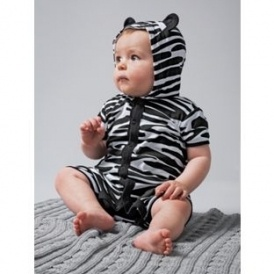 5d097fa5b144 Baby Animal Print Hooded Romper Suit £1.79   Argos