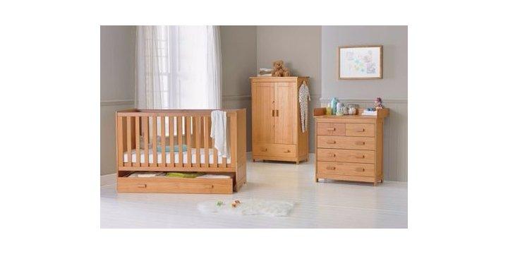 babystart 3 piece nursery furniture set argos. Black Bedroom Furniture Sets. Home Design Ideas