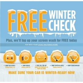 FREE Winter Car Check @ Halfords