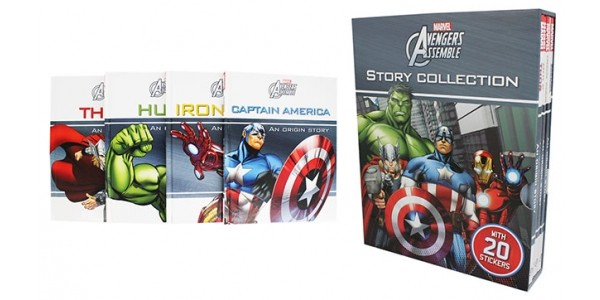 Marvel Avengers 4 Book Collection & Stickers: £4 With Free Delivery @ Tesco Direct