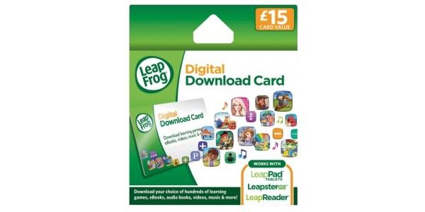 LeapFrog £15 Digital Download Card For £6.54 @ Amazon