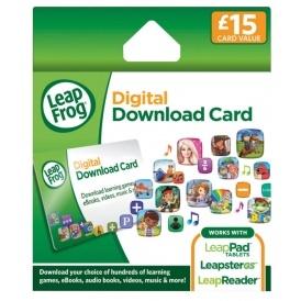 LeapFrog £15 Digital Download Card For £6.54