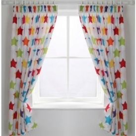 Kids' Unlined Star Curtains £5.99 @ Argos