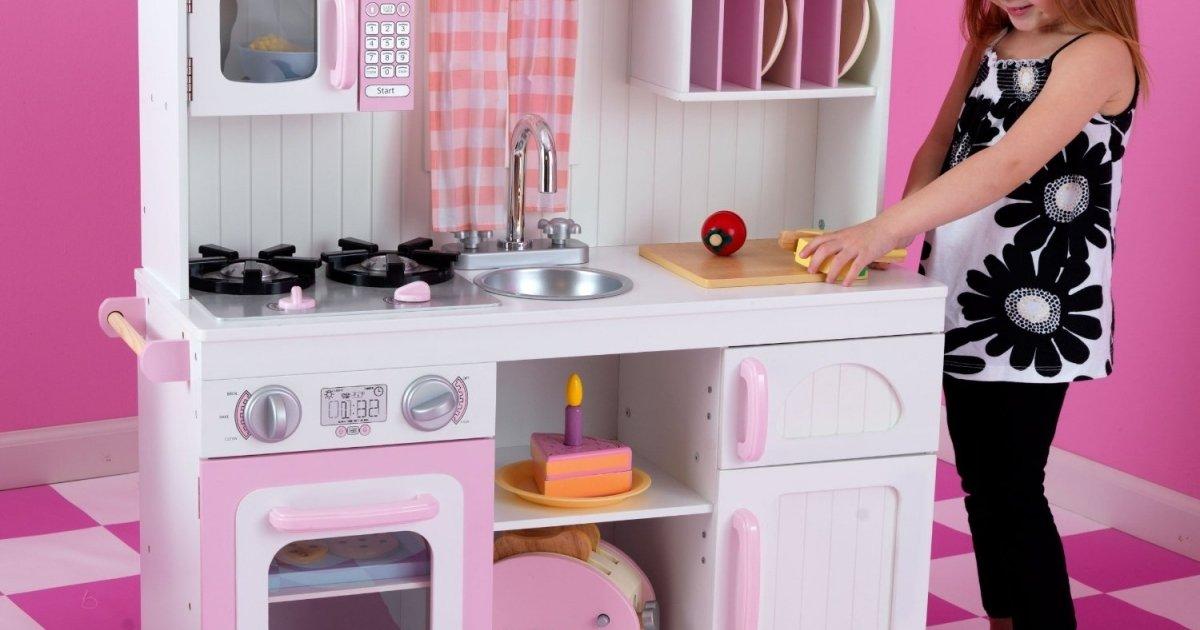 Kidkraft modern country kitchen set delivered amazon for Kidkraft modern country kitchen 53222