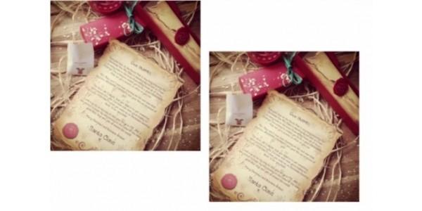 Personalised Santa Letter/Scroll & Reindeer Food From £4.99 Delivered @ Little Bird