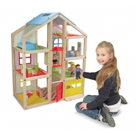 Wooden Hi Rise Doll House £52.44 @ Amazon